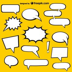 Comic Book speech bubbles free elements Vector | Free Download