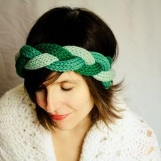 Braided Knit Headband via Etsy