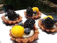 Tartaletas Extravaganzas raw food
