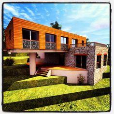 Résidence Estivale Contemporaine Bio Climatique & Ecologique en Corse     Cabinet d'Architecture Kayser Milleliri, Architecte DPLG en Corse à PROPRIANO    Tel : 06 60 58 06 25  http://www.corsicarchitecture.fr/