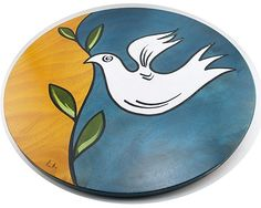 Lazy Susan hande made  Dove by Judaicaworld on Etsy