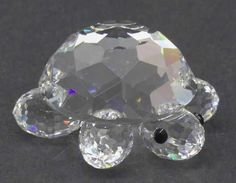 Rare Retired Swarovski Crystal Figurine -- Small Turtle