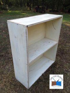 Painted vintage bookcase