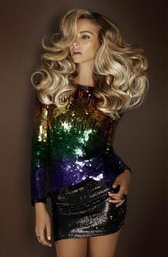 rainbow brite | fashion editorial | blonde | sparkle | shine | photography | glamour | shoot | colour sequins | curls |