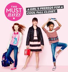 A girls prereqs for a cool fall closet: Macy's Back to School 2015