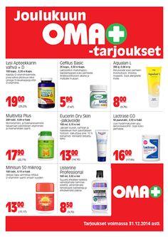 Kuva: Joulukuun OMA+ -tarjoukset