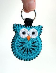 Items similar to Crochet owl keychain, hand made crochet owl keyring on Etsy Owl Crochet Patterns, Crochet Birds, Owl Patterns, Cute Crochet, Crochet Crafts, Crochet Flowers, Crochet Stitches, Knitting Patterns, Knit Crochet