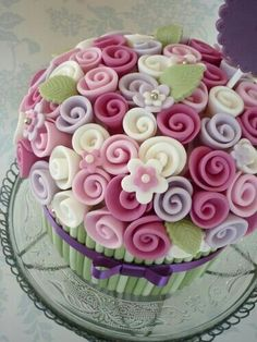 Can be made as a table arrangement with foam..or as a mini cake topper..also with foam