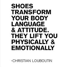 This is so true! If I have the wrong shoes on, I feel rubbish, no matter how good my outfit!