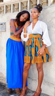 Blue African inspired skirt and dress