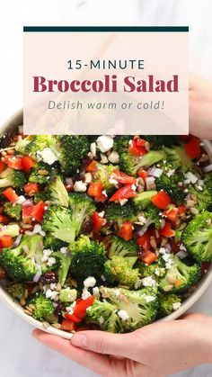 This broccoli salad recipe is ready in 15 minutes and is packed with fiber and other healthy vitamins. Best Chicken Salad Recipe, Caprese Salad Recipe, Salmon Salad Recipes, Chopped Salad Recipes, Spinach Salad Recipes, Greek Salad Recipes, Healthy Salad Recipes, Broccoli Recipes, Diet Recipes