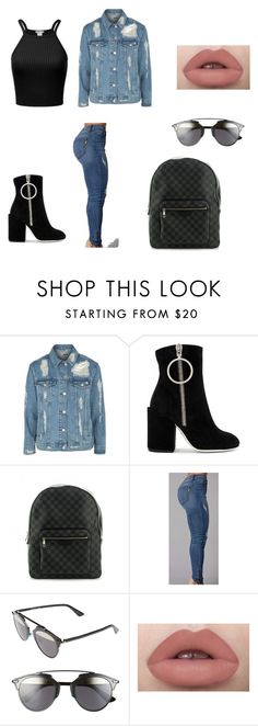 """Untitled #6"" by kevser-uzumcu on Polyvore featuring Topshop, Off-White, Louis Vuitton and Christian Dior"