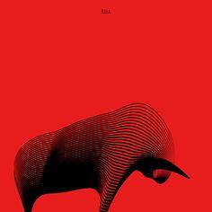 Andrea Minini - Bull, Animals in Moiré | 3rd series