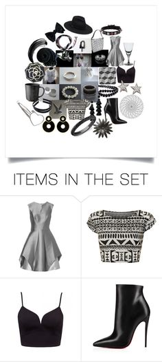 """Sunday B&W Collection"" by crystalglowdesign ❤ liked on Polyvore featuring art"