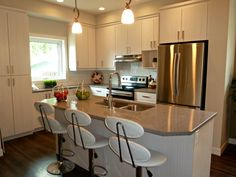 A staged kitchen completed by Maximum Impact Plus Kitchen, Table, Furniture, Home Decor, Cooking, Decoration Home, Room Decor, Kitchens, Tables