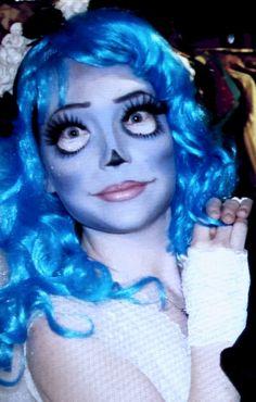 #Halloween  #makeup, #Corpsebride. #corpsebridemakeup