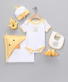 Take a look at this Just Hatched Chick Gift Set by Baby Aspen on #zulily today!