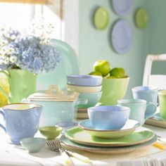 "VIETRI Sorbetto Dinnerware- Inspired by ""Italian sherbet"" colors. www.theitaliandish.com"