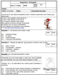 Nesta postagem trago para vocês um simulado pronto para imprimir de Português e Matemática com gabarito indicado a alunos do segundo ano do Ensino Fundamental.