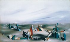 Yves Tanguy, marzo Olio su tela, 43 x cm, Collezione Peggy Guggenheim, Venezia Yves Tanguy, Peggy Guggenheim, Max Ernst, Surrealism Painting, Modern Pictures, Magritte, Joan Miro, Surreal Art, American Art