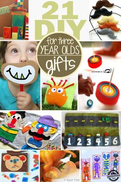These 21 homemade gifts for 3 year olds are full of fun - just like their recipient. Tons of festive gift ideas for kids to make a give.