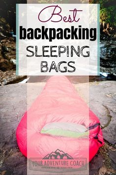 Do you choose a down or synthetic sleeping bag Shopping for backpacking gear can be overwhelming! When it comes to sleeping bags and puffy coats, which is better down or synthetic material? Read on to learn the pros and cons of synthetic or down sleeping Best Lightweight Sleeping Bag, Best Sleeping Bag, Down Sleeping Bag, Sleeping Bags, Ultralight Backpacking, Backpacking Tips, Hiking Gear, Camping Ideas, Camping Outdoors