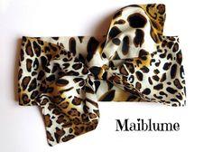 Haarband Rockabilly Leopard von Maiblume - fiore di maggio auf DaWanda.com