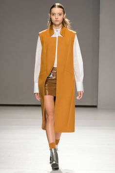 Alonova Kiev Fall 2017 Fashion Show Collection: See the complete Alonova Kiev Fall 2017 collection. Look 6 Womens Clothing Stores, Clothes For Women, Women's Clothing, Sleeveless Jacket, Vogue Russia, Fashion Show Collection, Jacket Style, Fashion 2017, Everyday Fashion