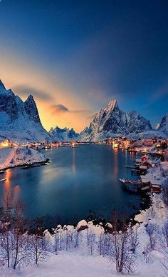 Lofoten, Norway I'd love to visit little towns like this.towns with amazing vistas and lots of charm. Lofoten, Places Around The World, Around The Worlds, Adventure Is Out There, Vacation Spots, Vacation Places, Beautiful World, Beautiful Norway, Stunningly Beautiful