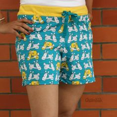 SKOOTER WOMEN TEAL BOXER SHORT