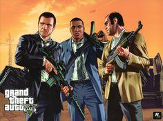 GTA 5 Vector Graphics Men Grand Theft Auto ( GTA ) Michael De Santa, Franklin Clinton, Trevor Phillips Games