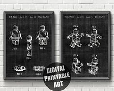 Items similar to Lego Patent Print Lego Room Decor, Wall Decor, Lego Wall Art, Lego Letters, Lego Decorations, Lego Gifts, Lego Pictures, Patent Prints, Rwby