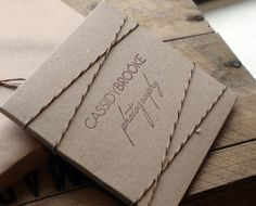 Custom Letterpress x 50 Double Kraft CD/DVD Cases