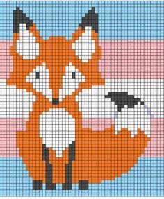 Fox corner to corner blanket crochet.  C2c