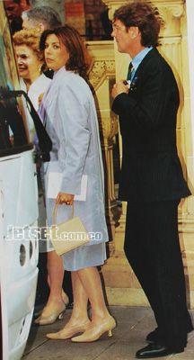 Los príncipes Carolina y Ernst de Hannover no podían faltar a la cita que reunió a lo más granado de la realeza europea. Foto: Archivo Jet-Set. Edición 09/Mayo de 1999