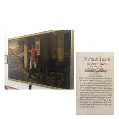Óleo Muerte de Ricaurte en San Mateo en Casa Museo Batallón No. 14 de Infantería - Quinta Brigada del Ejército de Colombia