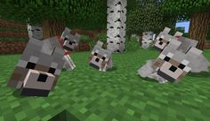 Minecraft Baby Wolves