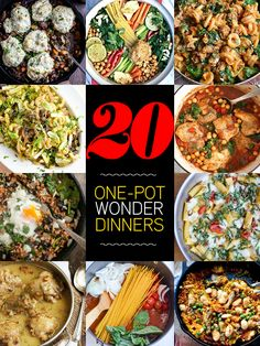 20 One Pot Wonder Dinners from some fave food bloggers