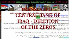 Translated Central Bank of Iraq Statements on Iraqi Currency Deletion of Zeros