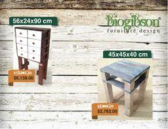 Búscanos en:  Facebook: Biogibson Muebles De Diseño  Twitter: @Biogibson