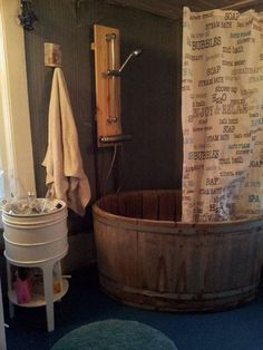 SOOOOO going to do this in the new Whare!!!! What an awesome bath