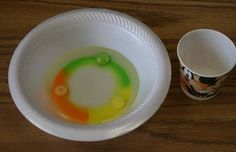 Skittles Experiment.  I tried it and it worked.  Can't wait for letter \S\ week!,