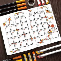 IT'S THE APO-KOI-LYPSE! lol omg that pun was humiliating i cod do better 😂 get ready for a lot of fish puns coming this month 🎏 (also i… bullet journal Plinth Bullet Journal Monthly Calendar, March Bullet Journal, Bullet Journal Notebook, Bullet Journal Themes, Bullet Journal Spread, Bullet Journal Layout, Bullet Journal Inspiration, Journal Ideas, Organization Bullet Journal