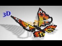 How-to tutorial on making a butterfly out of beads and wire. Can be used in jewelry designs or as a decor element. Official website: www.vipbiser.com