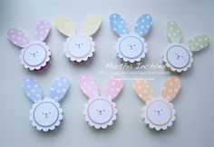 Multiplying like rabbits! by inchley - Cards and Paper Crafts at Splitcoaststampers Spring Crafts, Holiday Crafts, Holiday Fun, Candy Crafts, Paper Crafts, Paper Punch Art, Craft Punches, Peppermint Patties, Easter Projects