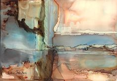 "Mirage by Lou Jordan Alcohol inks on Yupo ~ 5"" x 7"""