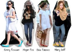 Use sapatilhas coloridas + roupas neutras ...