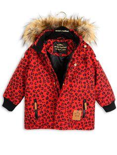 Mini Rodini –  Siberia Leopard Jacket, red
