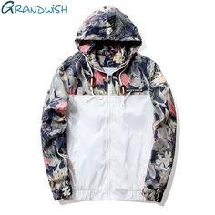 Grandwish Floral Bomber Jacket Men Hip Hop Slim Fit Flowers Pilot Bomber Jacket Coat Men's Hooded Jackets Plus Size 4XL , PA571 -  http://mixre.com/grandwish-floral-bomber-jacket-men-hip-hop-slim-fit-flowers-pilot-bomber-jacket-coat-mens-hooded-jackets-plus-size-4xl-pa571/  #Jackets