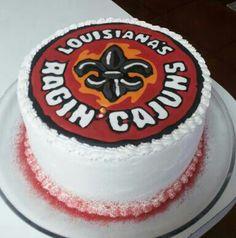 Ragin' cajun (University of Louisiana at Lafayette) cake